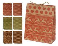 """Пакет бумажный подарочный """"Новогодние узоры"""" (в ассортименте; 25x8,5x34,5 см, арт. ABD002320)"""