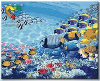 "Картина по номерам ""Коралловые рыбки"" (400x500 мм; арт. HB4050107)"