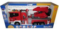 """Модель машины """"Пожарная машина Scania с модулем"""" (масштаб: 1/16)"""