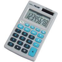 Калькулятор (8 разрядов, серый/голубой)
