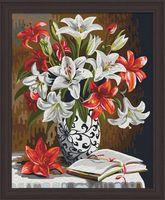 "Картина по номерам ""Красно-белые лилии"" (400х500 мм)"