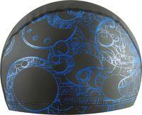 Шапочка для плавания PU 303 (чёрно-синяя)