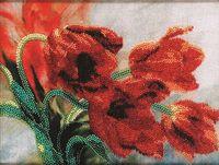 "Вышивка бисером ""Тюльпаны"" (250х180 мм)"