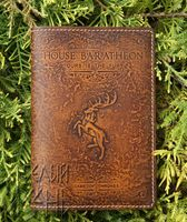 "Обложка на паспорт ""House BARATHEON"" по мотивам сериала ""Игра престолов"""