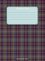 """Тетрадь в клетку 120 листов """"Шотландская клетка №2"""""""