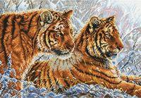 "Вышивка крестом ""Амурские тигры"" (325x470 мм)"