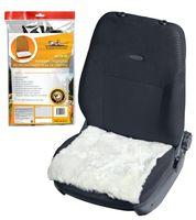 Накидка-подушка из натурального меха на сиденье (белая; арт. AFC-SH-05)