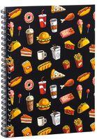 """Блокнот в клетку """"Fast food"""" (A5; арт. 1377)"""