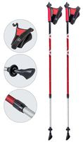 Палки для скандинавской ходьбы двухсекционные AQD-B017 (85-135 см; красные)