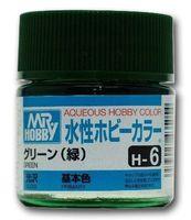 Краска Aqueous Hobby Color водоразбавляемая (green, H-6)