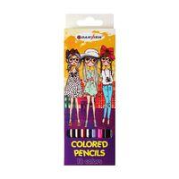 """Цветные карандаши """"Девочки"""" (18 цветов; арт. DV-4801-18)"""