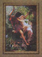 """Вышивка крестом """"Влюбленные на качелях"""""""