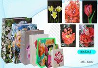"""Пакет бумажный подарочный """"Цветы"""" (в ассортименте; 16x23x8 см; арт. МС-1409)"""