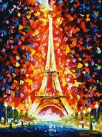 """Картина по номерам """"Париж - огни Эйфелевой башни"""" (300х400 мм)"""