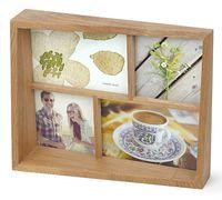 """Рамка деревянная на 4 фото """"Edge"""" (10х10 см, 10х15 см; натуральное дерево)"""