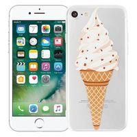 """Чехол для iPhone 7/8 """"Рожок мороженого"""" (прозрачный)"""