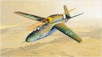 """Истребитель """"Heinkel He162D"""" (масштаб: 1/48)"""