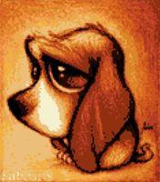 """Алмазная вышивка-мозаика """"Хмурый пес"""""""