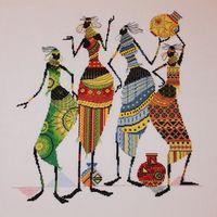 "Вышивка крестом ""Африка. Африканочки подружки"" (380х430 мм)"