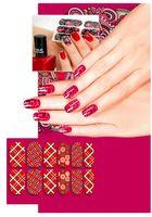 """Наклейки для дизайна ногтей """"Шотландка"""" (6 шт.)"""
