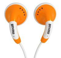 Наушники-вкладыши стерео Maxell Colour Budz (оранжевые)