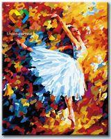 "Картина по номерам ""Белый лебедь"" (400x500 мм; арт. HB4050144)"