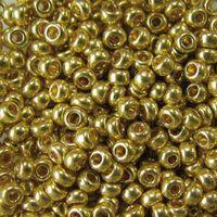 Бисер №18181 (золотой металлик, перламутровый)
