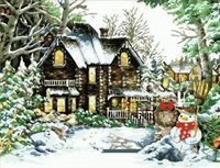 "Картина по номерам ""Зимний дом"" (400x500 мм; арт. MG201)"