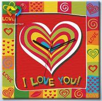 """Картина по номерам """"Люблю тебя!"""" (400x400 мм; с часовым механизмом; арт. SH4040002)"""