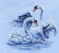 """Вышивка крестом """"Лебединая верность"""""""