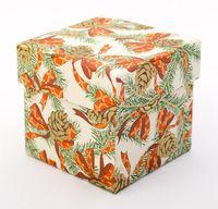"""Подарочная коробка """"Pine Cones and Ribbons"""" (7,5х7,5х7,5 см)"""