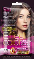 """Крем-краска для волос """"Effect Сolor"""" (тон: 3.3, горький шоколад)"""