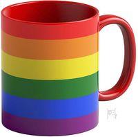 """Кружка """"Rainbow"""" (красная; арт. 3374)"""