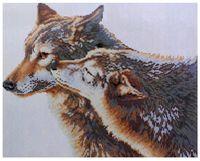 """Алмазная вышивка-мозаика """"Волки"""" (400x500 мм)"""