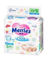 "Подгузники ""Merries S"" (4-8 кг; 24 шт.)"