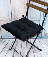 """Подушка на стул """"Simplex"""" (42х42 см; чёрная)"""