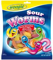 "Мармелад ""Woogie. Кислые червячки"" (250 г)"
