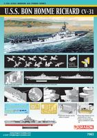 "Авианосец ""U.S.S. Bon Homme Richard CV-31 Korean War"" (масштаб: 1/700)"