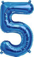 """Воздушный шар """"Цифра 5"""" (синий)"""