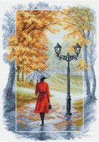"""Канва с нанесенным рисунком """"Соло под дождём"""""""