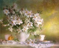 """Вышивка бисером """"Полевые цветы"""" (230х280 мм)"""