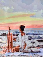 """Картина по номерам """"Рисуя закат"""" (400х500 мм)"""