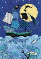 """Вышивка крестом """"Пиратский корабль"""""""