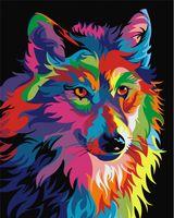 """Картина по номерам """"Радужный волк Ваю Ромдони"""" (400х500 мм)"""