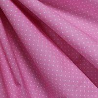 """Ткань """"Мелкий горошек"""" (розовый)"""