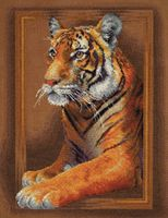"""Вышивка крестом """"Благородный тигр"""" (285х360 мм)"""