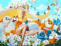 "Картина по номерам ""Блондинка"" (300х400 мм)"