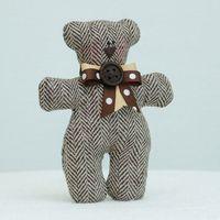 """Кукла ручной работы """"Медвежонок"""" (коричневый с бантом)"""
