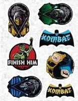 """Набор виниловых наклеек №526 """"Mortal Kombat"""""""
