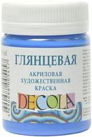 "Краска акриловая глянцевая ""Decola"" (синяя, 50 мл)"
